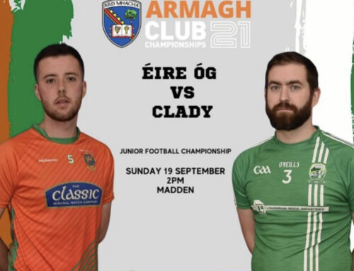 Seniors face Éire Og this Sunday in the Championship!